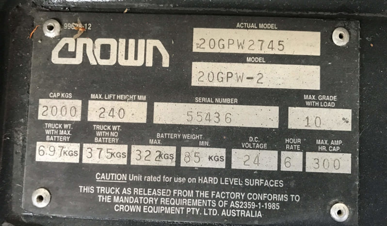 CROWN 20GPW2745 full