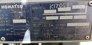 Komatsu FD25-16 full
