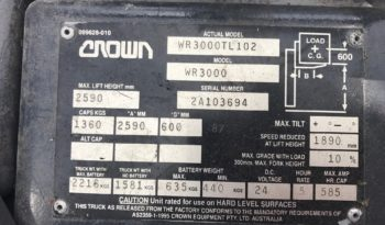 Crown WR3000TL102 full