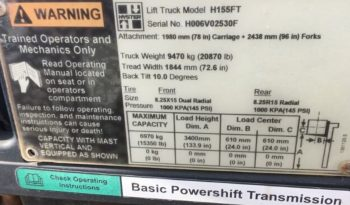 Hyster H155FT 7.0Ton (3.4m Lift) Diesel Lift Truck full