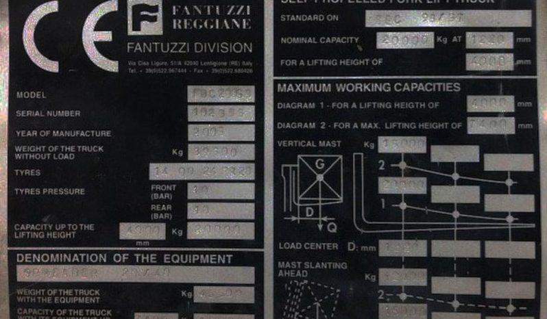 Fantuzzi FDC200G3, 20Ton (7.4m LIFT) Container Handler Diesel Forklift full