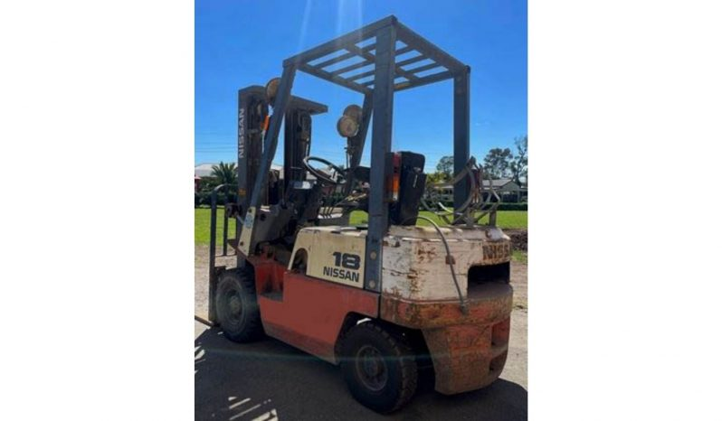 Nissan JO1A18U 1.75Ton (4.3m Lift) LPG/Petrol Forklift full